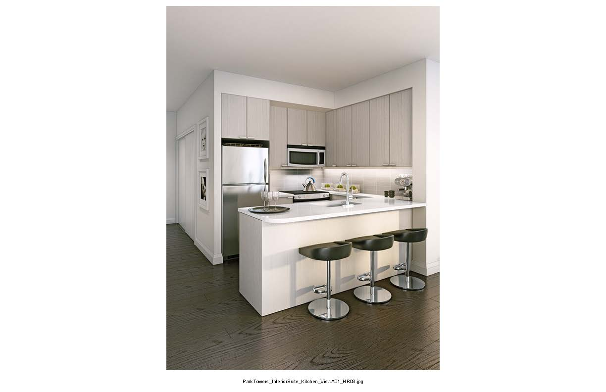 Park Towers at IQ Condos Kitchen Toronto, Canada