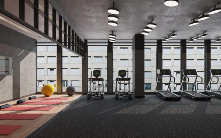 Rendering of Bauhaus interior gym