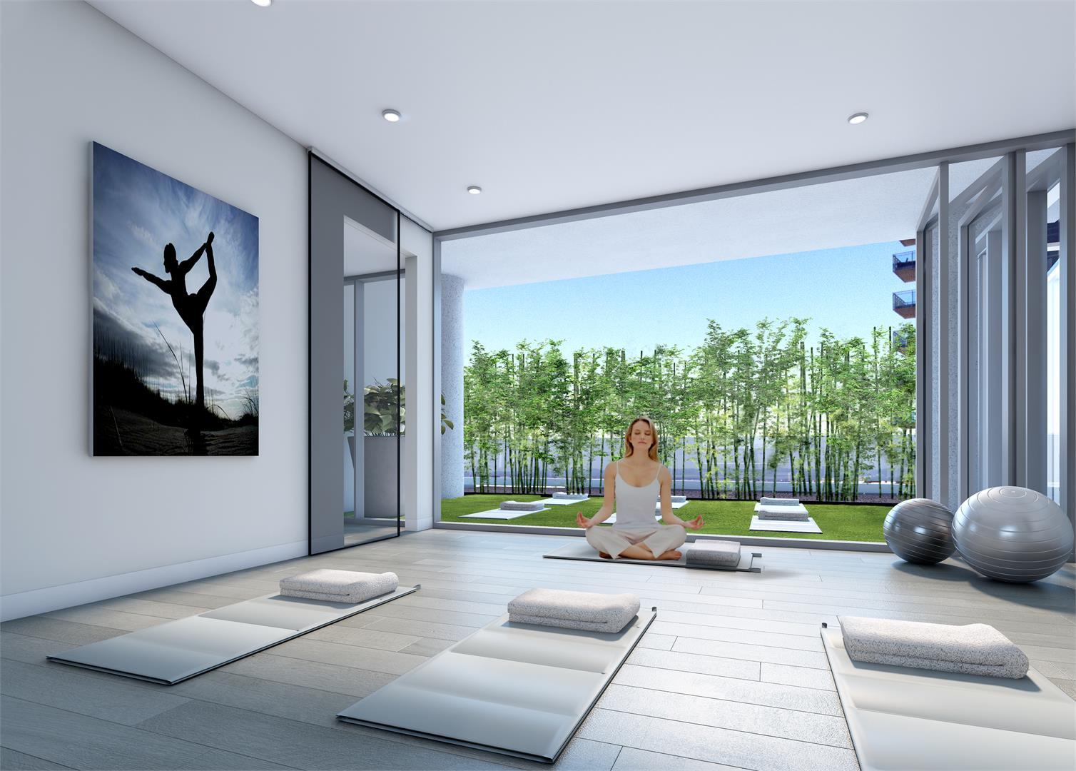Rendering of Nautique Lakefront Residences yoga studio