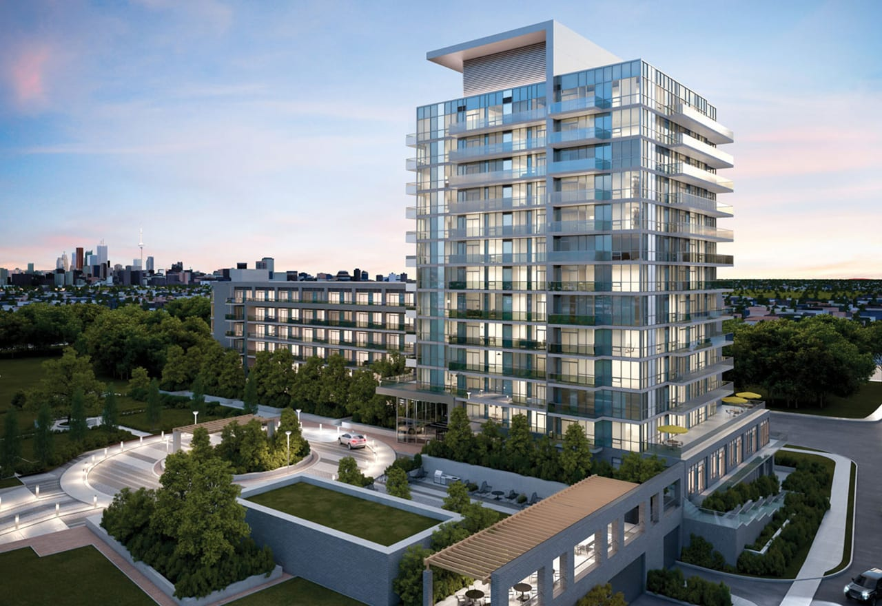 Rendering of The Colours of Emerald City Condos exterior