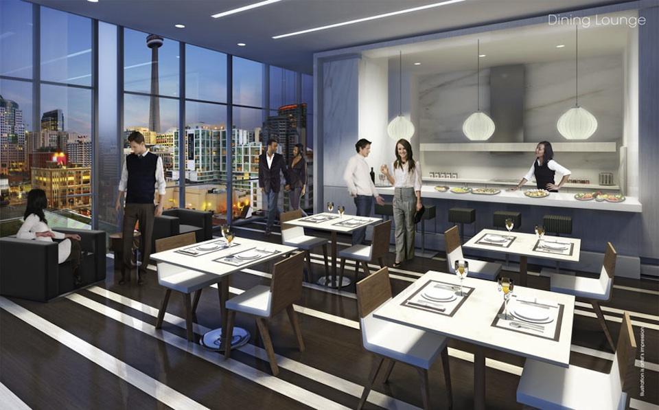 Charlie Condos Dinning Lounge Toronto, Canada