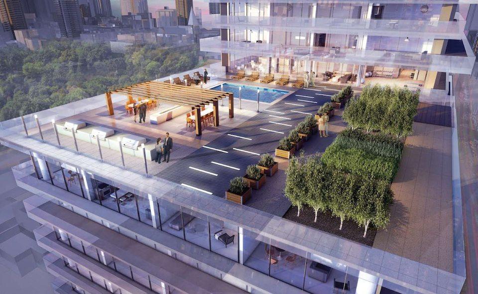 1Thousand Bay Condos Terrace Lounge Toronto, Canada