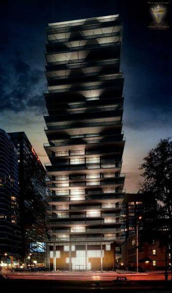 Exterior image of the One Thousand Bay Condos in Toronto