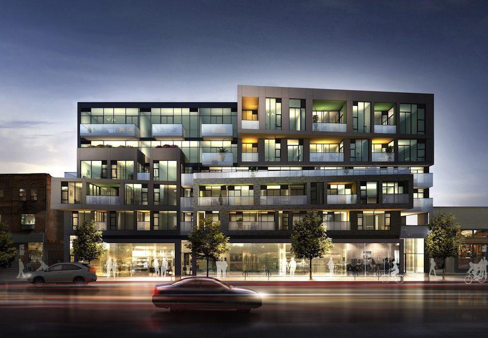 109OZ Condos Building View Toronto, Canada
