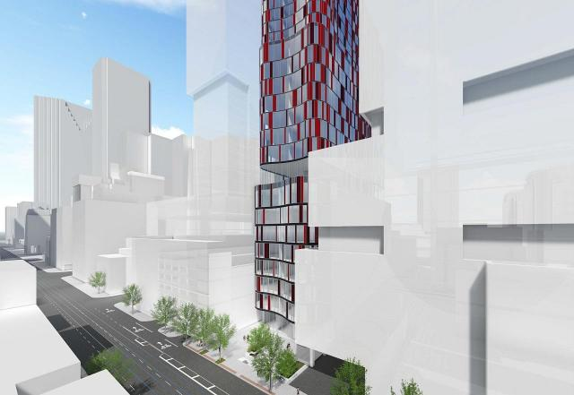 217 Adelaide West rendering of building exterior - facing southeast.