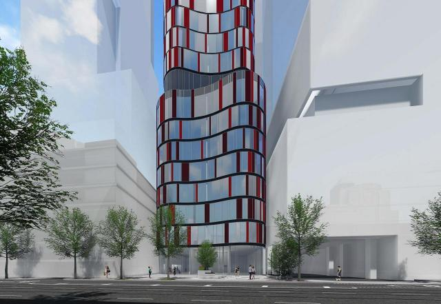 217 Adelaide West rendering of building exterior - facing front.