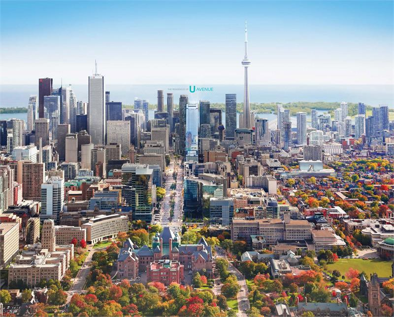 488 University Residences Condos Aerial View Toronto, Canada