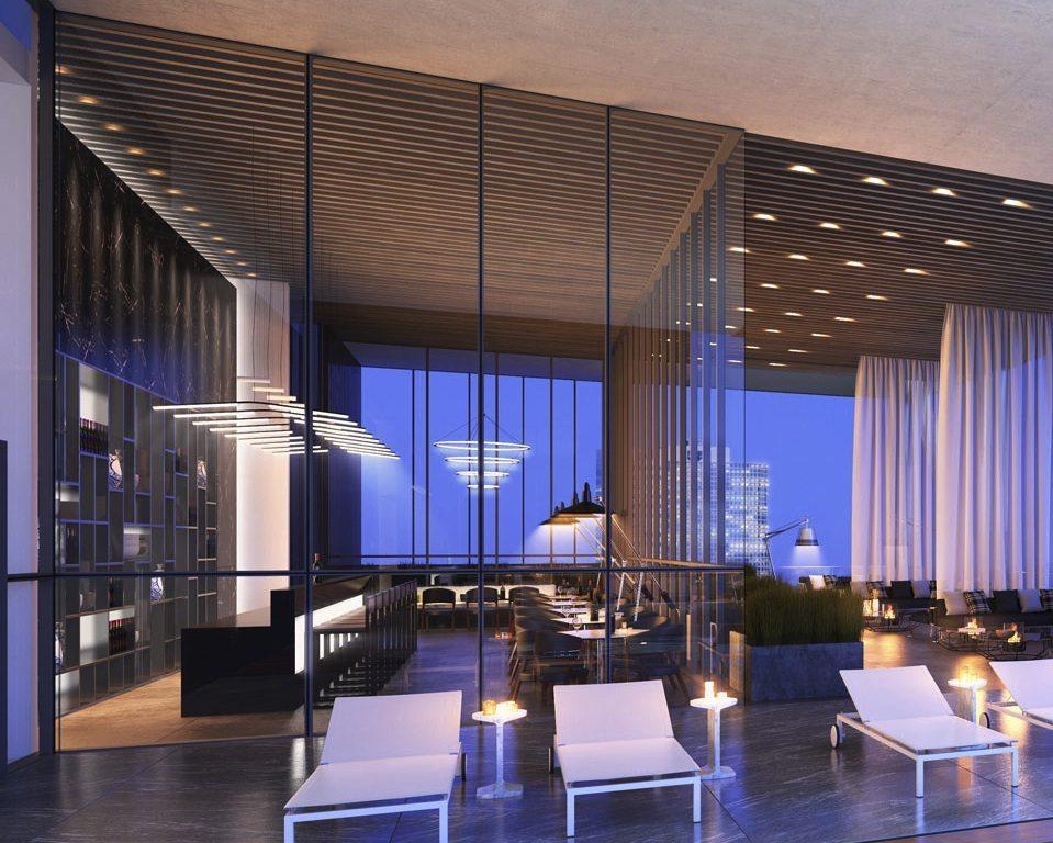 488 University Residences Condos Lounge Toronto, Canada