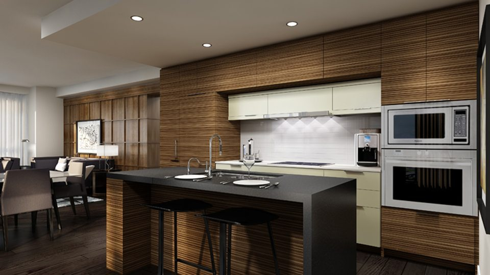 88 Scott Condos Kitchen Area Toronto, Canada