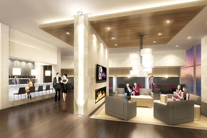 Allure Condos Wine Lounge Toronto, Canada