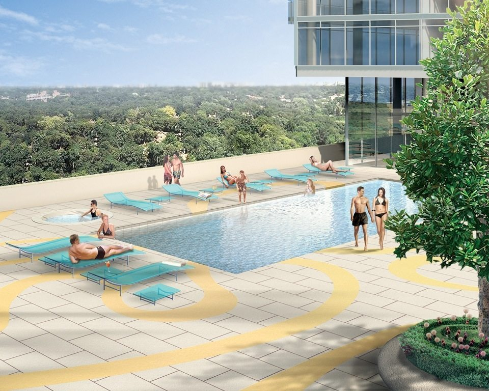 Burano Condos Swimming Pool Toronto, Canada