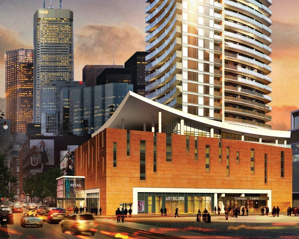 Cinema Tower Condos Front View Toronto, Canada