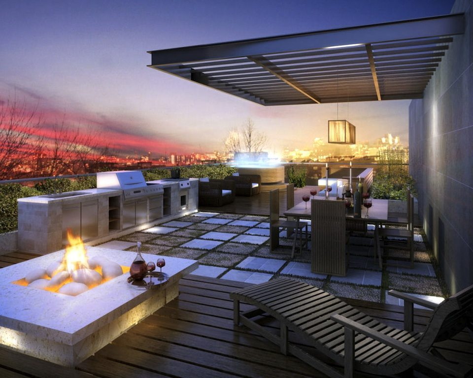 Cube Lofts Condos Terrace Lounge Toronto, Canada