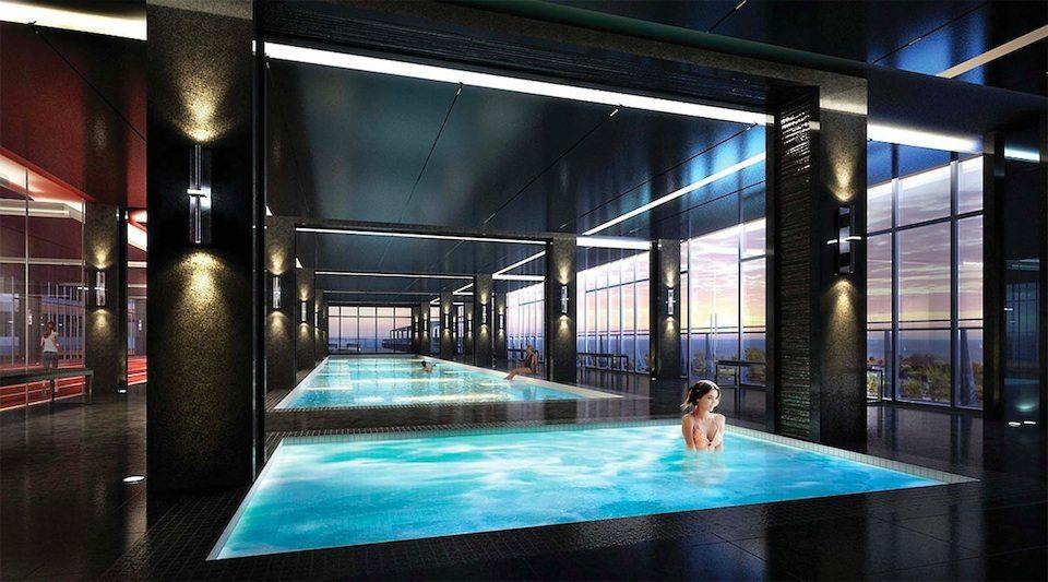 Eau du Soleil Condos Swimming Pool Toronto, Canada