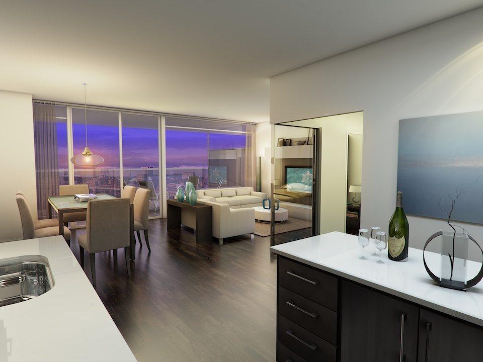 Eleven Superior Condos Living Area Toronto, Canada