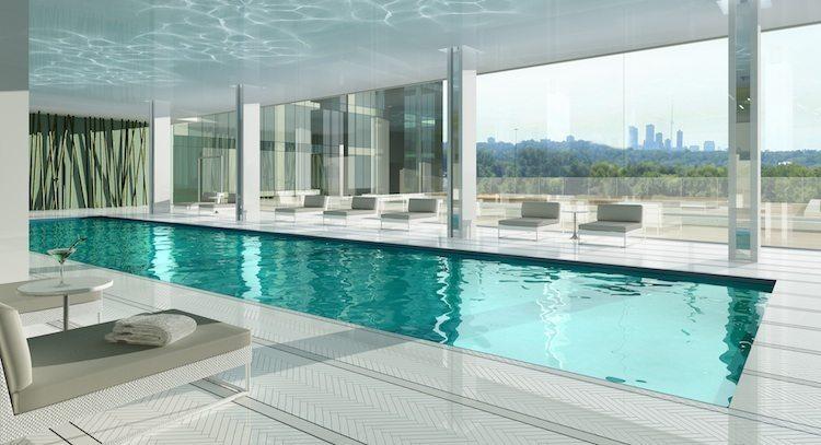 Emerald Park Condos Swimming Pool Toronto, Canada