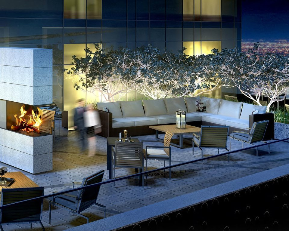 Fabrik Condos Terrace Lounge Toronto, Canada