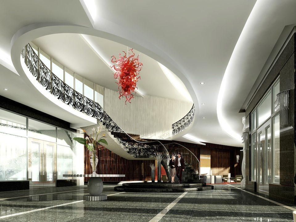 Gibson Square Condominiums Lobby Toronto, Canada