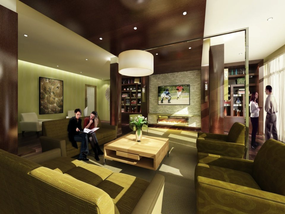 Gibson Square Condominiums Meeting Room Toronto, Canada