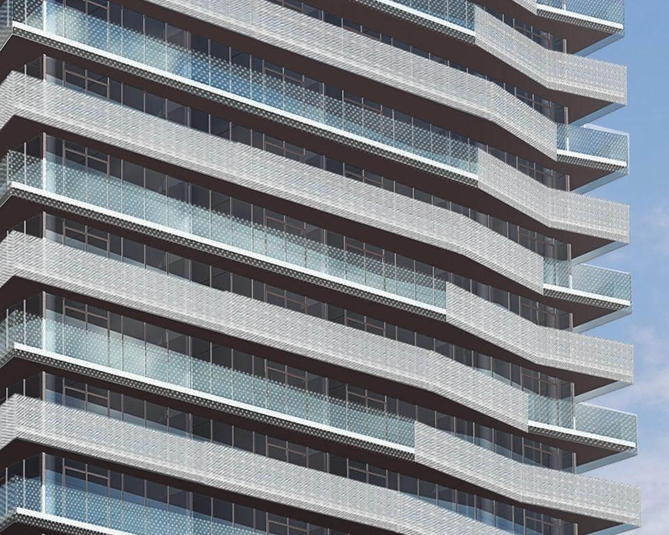 Gooderham Condos Close View Toronto, Canada