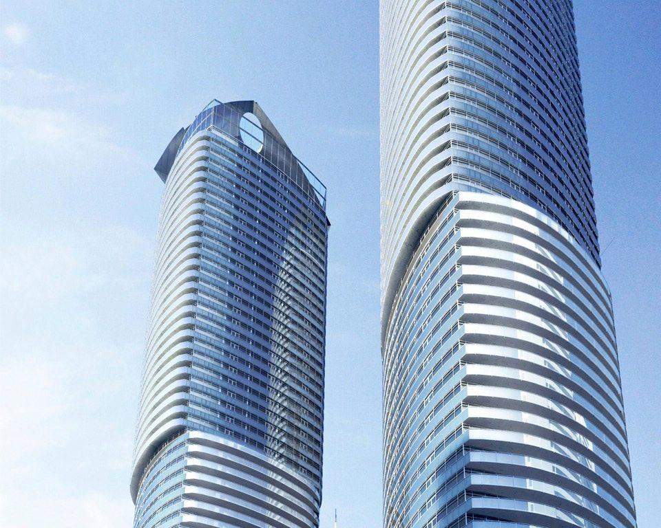 Ïce Condominiums at York Centre Terrace Building View Toronto, Canada