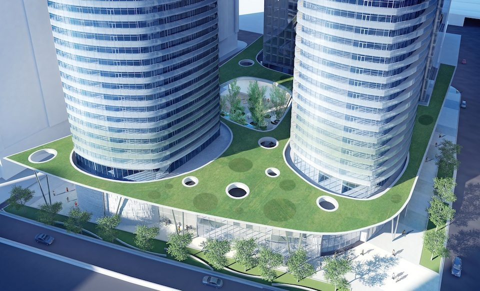 Ïce Condominiums at York Centre Terrace Close View Toronto, Canada