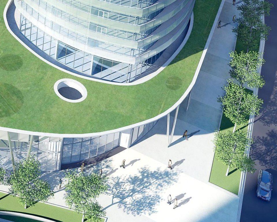 Ïce Condominiums at York Centre Terrace Garden Toronto, Canada