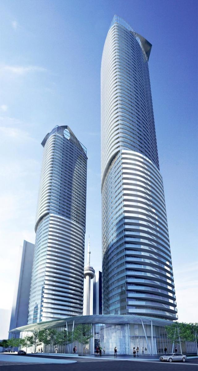 Ïce Condominiums at York Centre Terrace Street View Toronto, Canada