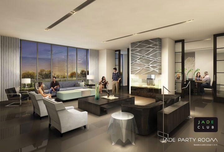 Jade Condominiums Party Room Toronto, Canada