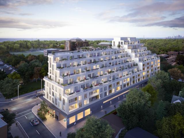 Kingston&Co Condos Aerial View Toronto, Canada