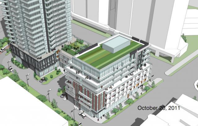 LNX Condos Aerial View Toronto, Canada