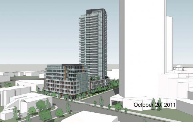 LNX Condos Building View Toronto, Canada