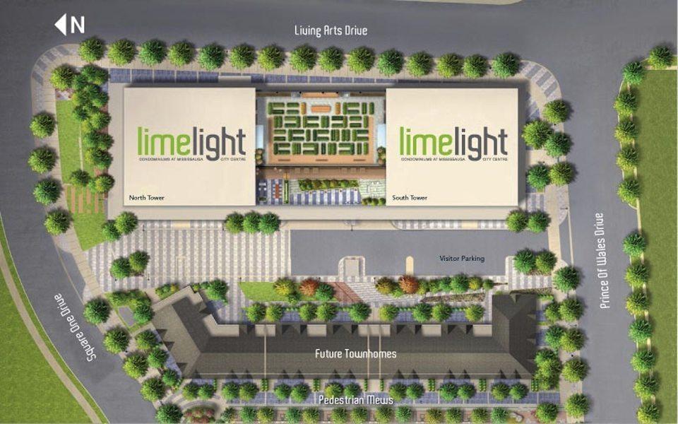 Limelight Condominiums Property Plan Toronto, Canada