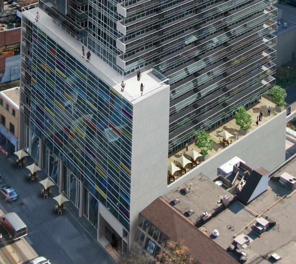 M5V Condominiums Rooftop View Toronto, Canada
