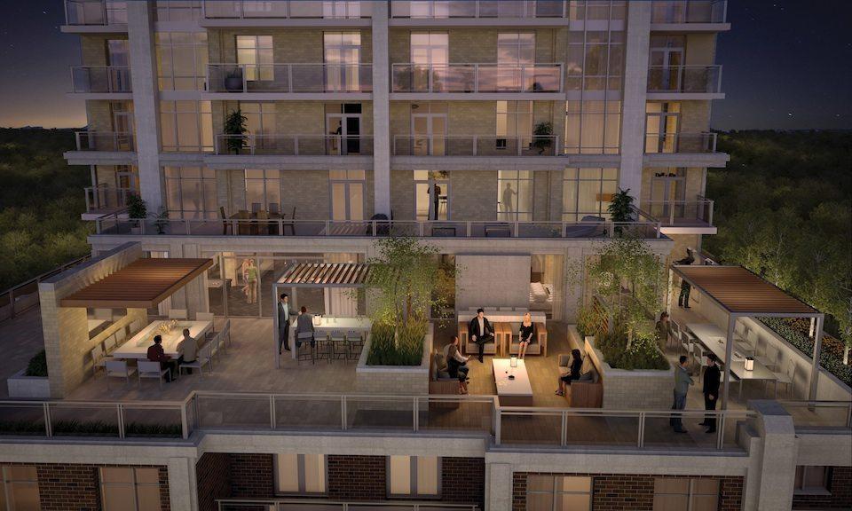 Mark Condos Terrace Party View Toronto, Canada