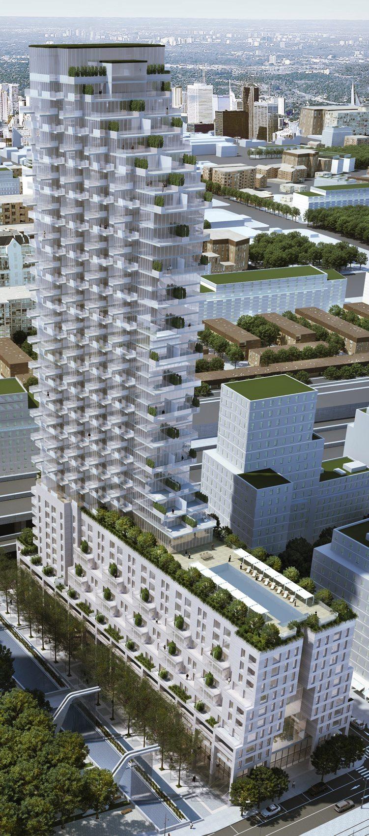 Monde Condos Aerial View Toronto, Canada