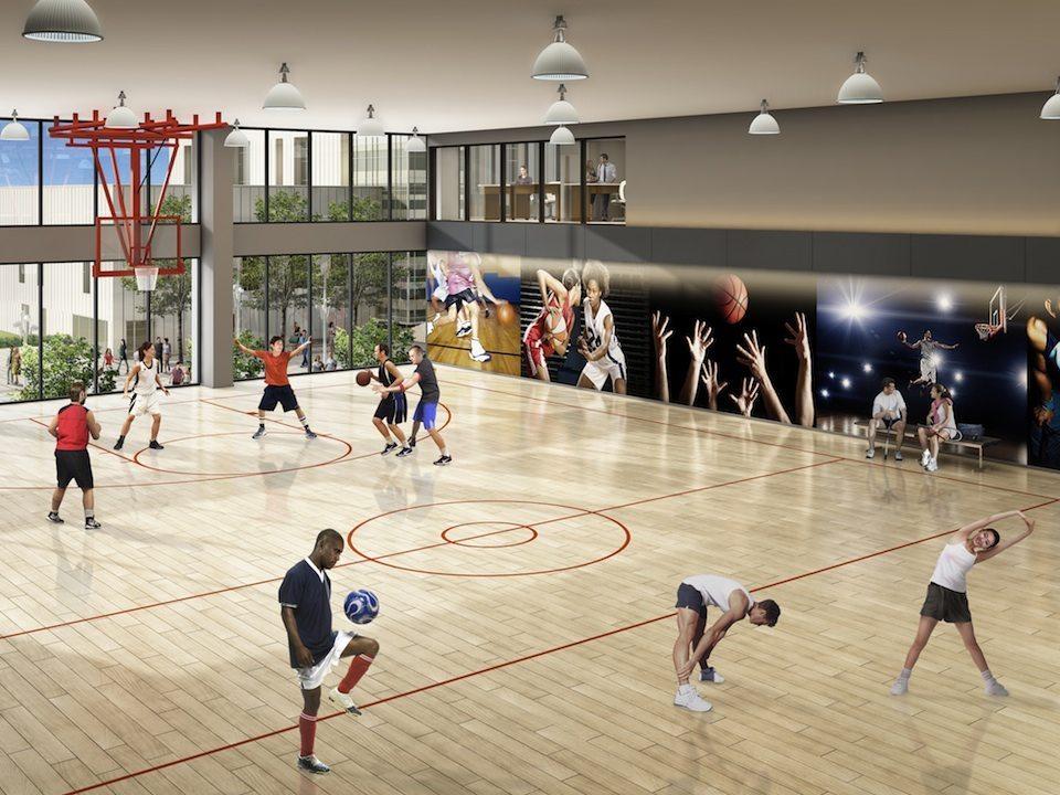 One Park Place Condos Basketball Court Toronto, Canada