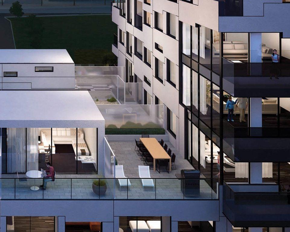 OpArt Lofts Terrace View Toronto, Canada