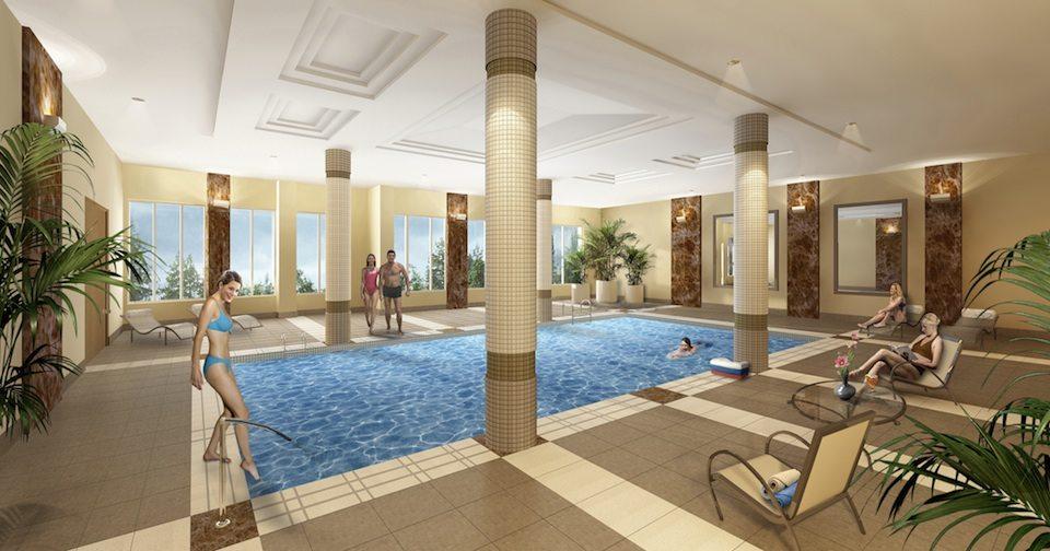 Palais at Port Royal Condos Swimming Pool Toronto, Canada