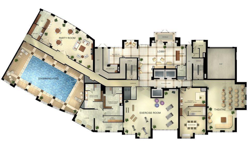 Palais at Port Royal Condos Floor Plan Toronto, Canada