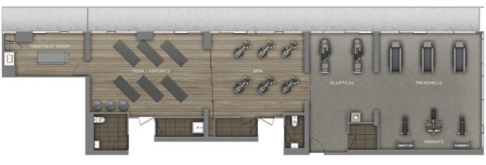 Peter Street Condominiums Amenities Plan 2 Toronto, Canada