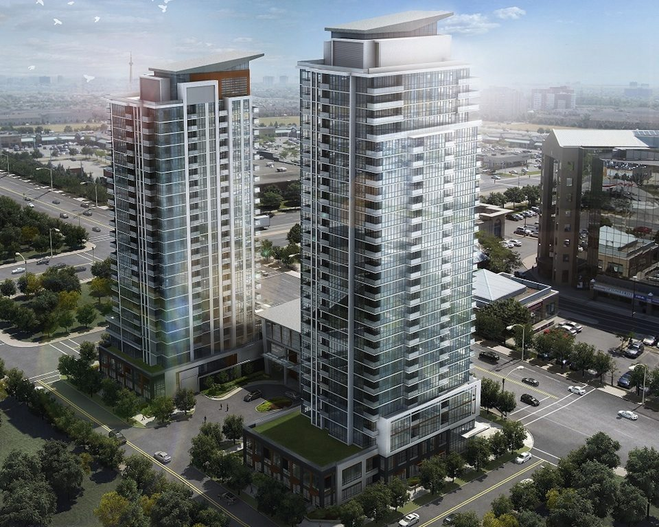 Pinnacle Uptown Crystal Condominiums Aerial View Toronto, Canada