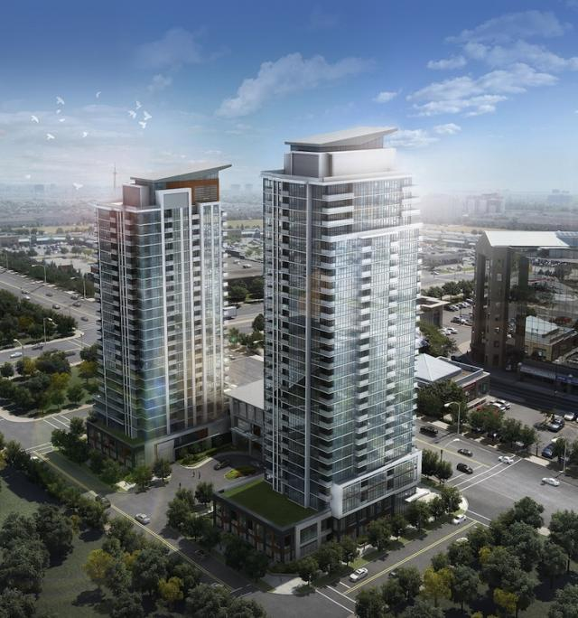 Pinnacle Uptown Crystal Condominiums Aerial Toronto, Canada