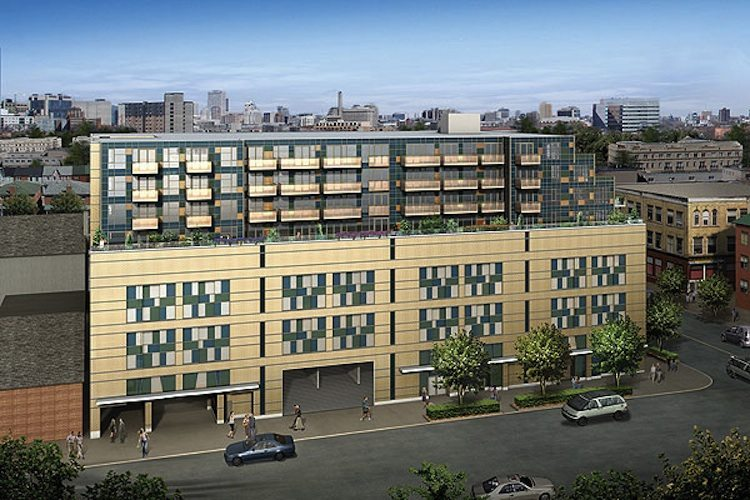 Queen & Portland Loft & Condominium Residences Aerial View Toronto, Canada