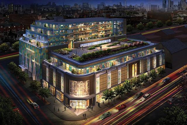 Queen & Portland Loft & Condominium Residences Night View Toronto, Canada