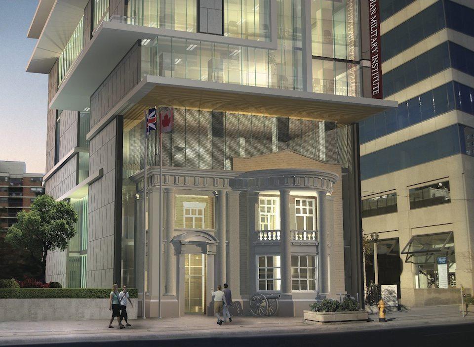 Residences at the RCMI Condos Entrance Toronto, Canada
