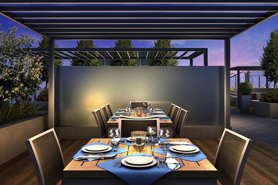 Rise Condos Terrace Dinning Toronto, Canada