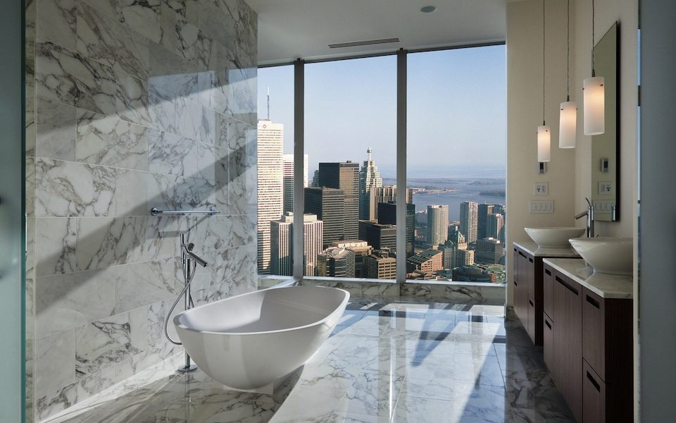 Shangri-La Toronto Condos Bathroom View Toronto, Canada