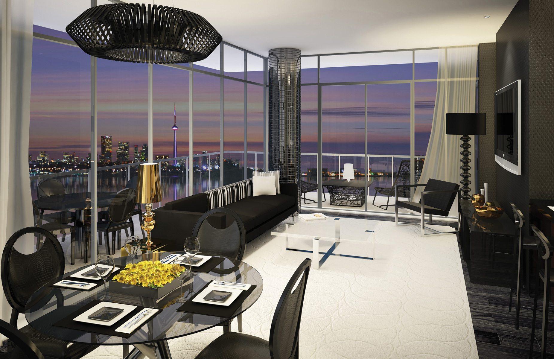 South Beach Condos & Lofts Living Area Toronto, Canada
