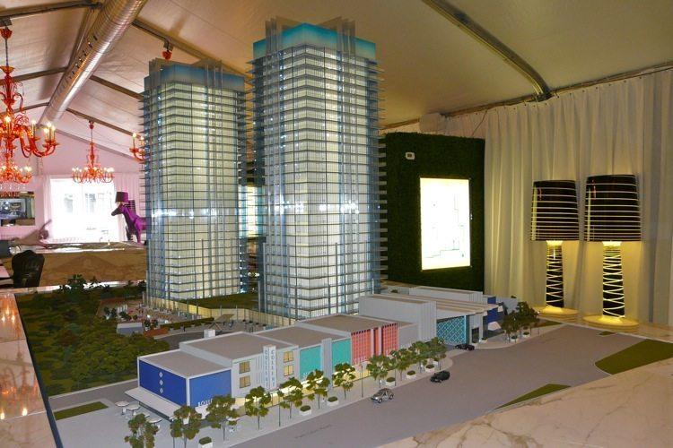 South Beach Condos & Lofts Building Model Toronto, Canada